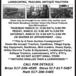 Hasty Burns Online March 30 Auction